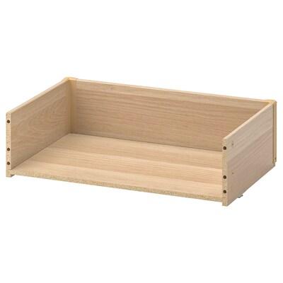 BESTÅ Tiradera-egitura, haritz-efektua tindu zuria, 60x15x40 cm