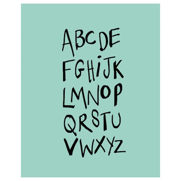 BILD Irudia, alfabetoa, 40x50 cm