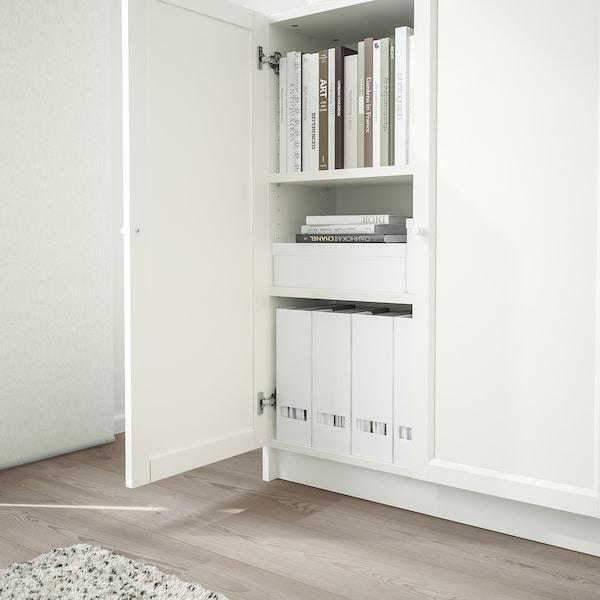 BILLY / OXBERG Atedun liburutegia, zuria, 80x30x106 cm