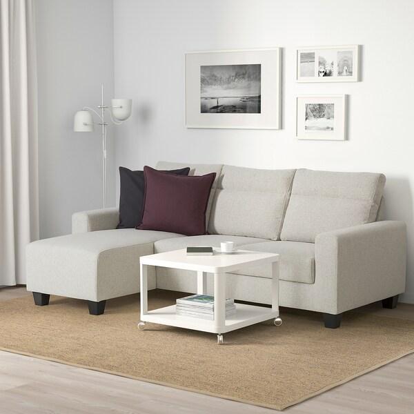 BOLLSTANÄS 3 eserlekuko sofa +chaiselongue-ak/Gunnared beixa 87 cm 87 cm 50 cm 140 cm 110 cm 10 cm 16 cm