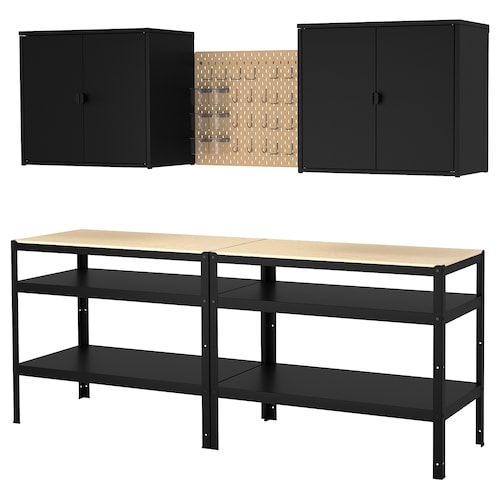 IKEA BROR Lanerako armairua+bankua