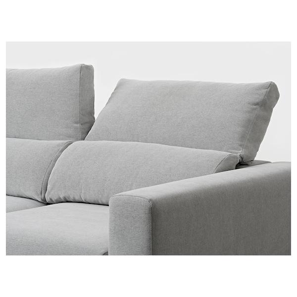 ESKILSTUNA 3 eserlekuko sofa, +chaiselongue-ak/Tallmyra Zuria/beltza