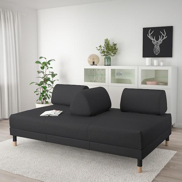 FLOTTEBO Ohe-sofa, Vissle gris iluna, 120 cm
