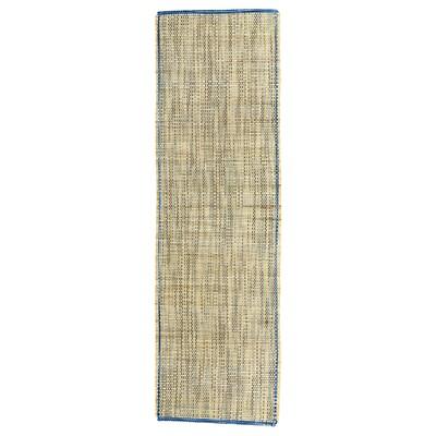 FÖRÄNDRING Mahai-zapi estua, eskuz/arroz-lastoa urdina/naturala, 35x120 cm