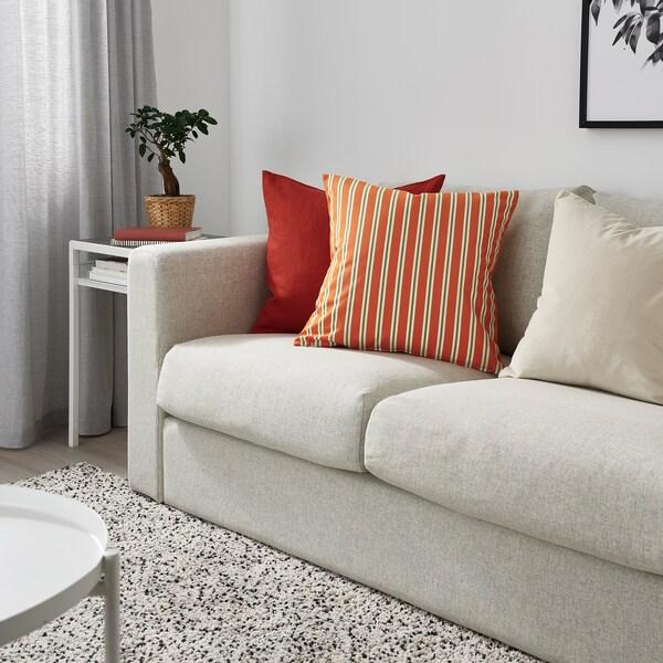 FUNKÖN Barr/kanp kuxin-zorroa, laranja marraduna, 50x50 cm