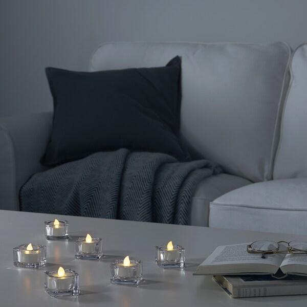 GODAFTON LED kandela txikia barr/kanp, pilekin/naturala