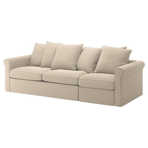 GRÖNLID 3 eserlekuko ohe-sofa Sporda naturala 53 cm 104 cm 68 cm