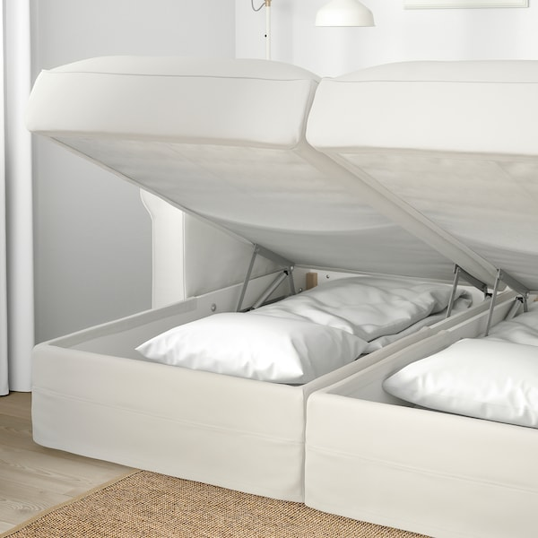 GRÖNLID 4 eserlekuko sofa chaiselongue-ekin/Inseros zuria 104 cm 164 cm 126 cm 7 cm 18 cm