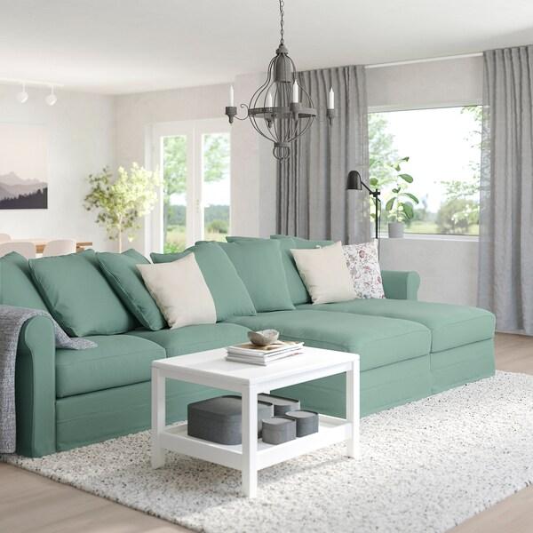 GRÖNLID 4 eserlekuko sofa chaiselongue-ekin/Ljungen berde argia 104 cm 164 cm 126 cm 7 cm 18 cm