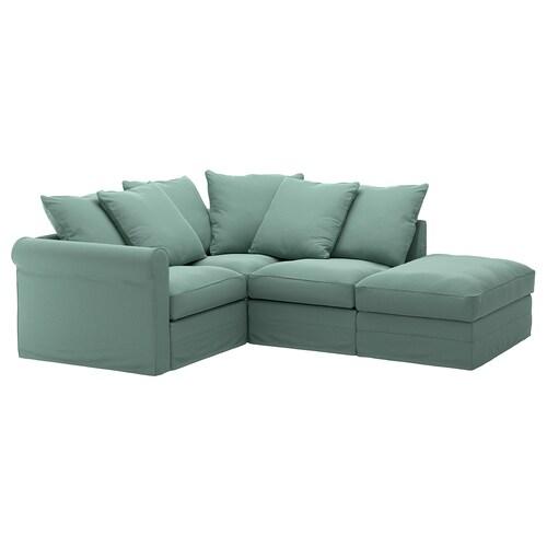 GRÖNLID izkinako 3 eserlekuko sofa +ertz irekia/Ljungen berde argia 104 cm 7 cm 18 cm