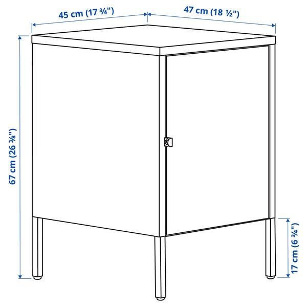 HÄLLAN Egongelako altzariak, zuria, 45x47x67 cm