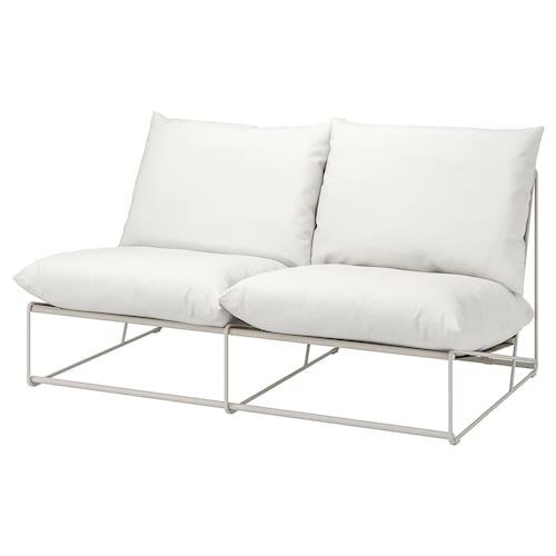HAVSTEN barr/kanp 2 eserlekuko sofa beso-euskarririk gabe/beixa