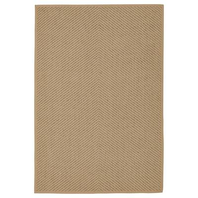 HELLESTED Alfonbra, naturala/marroia, 133x195 cm