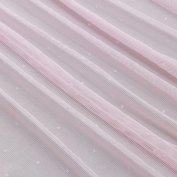 HILDRUN Sare-errezela, parea, arrosa/tantoak, 145x300 cm
