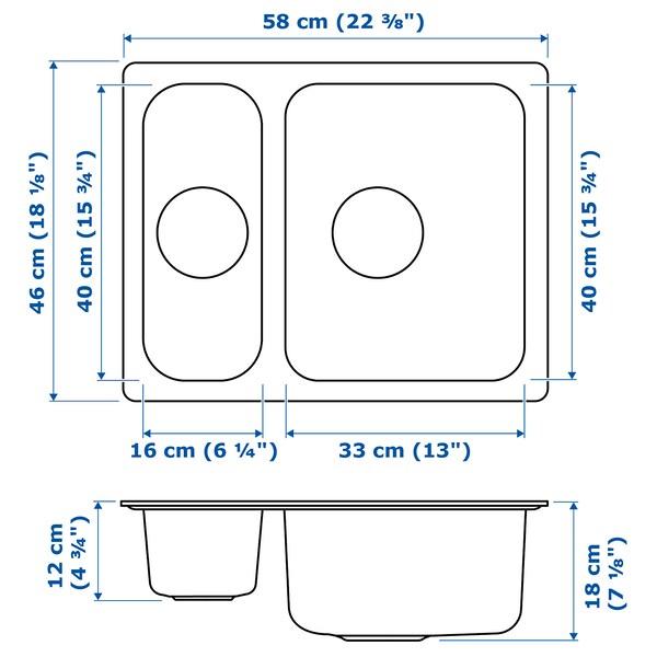 HILLESJÖN 1½ konketako harraska alt hgaitza 44.0 cm 56.0 cm 18.0 cm 33.0 cm 40.0 cm 18.0 l 12.0 cm 16.0 cm 40.0 cm 5.0 l 46.0 cm