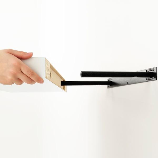 KALLAX / LACK Biltoki-konbinazioa apalarekin, zuria, 189x39x147 cm