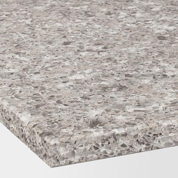 KASKER Neurrira egindako sukalde-gainekoa, marroi grisaxka akabera minerala/kuartzoa, 1 m²x2.0 cm