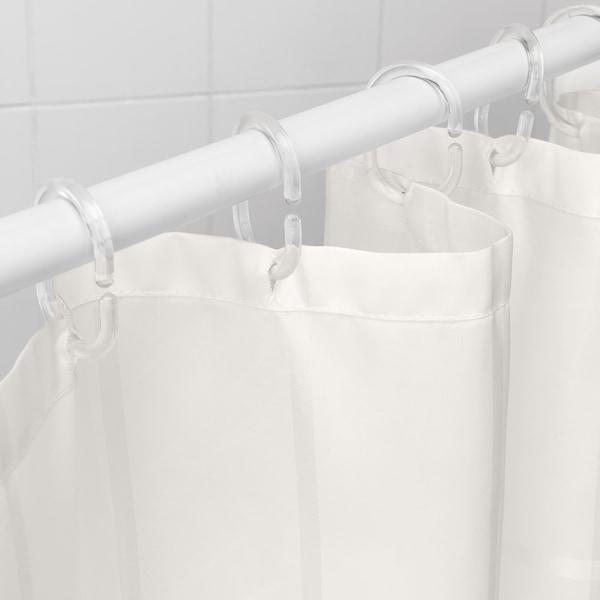 KLOCKAREN Dutxarako gortina, hezurra, 180x200 cm