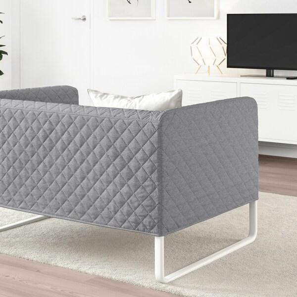 KNOPPARP 2 eserlekuko sofa Knisa argiguneargigrisa 21 cm 4 cm