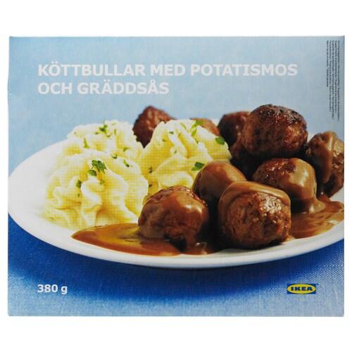 IKEA KÖTTBULLAR MED POTATISMOS Haragi-bolak eta patata-purea, izoz