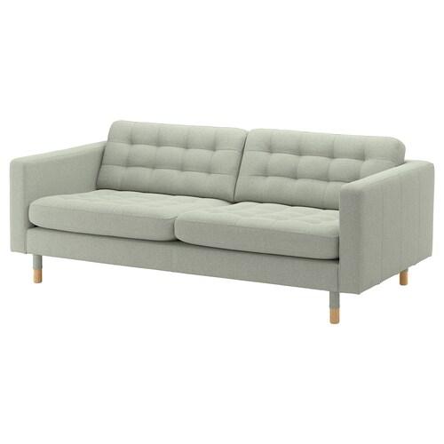 LANDSKRONA 3 eserlekuko sofa Gunnared berde argia/zura