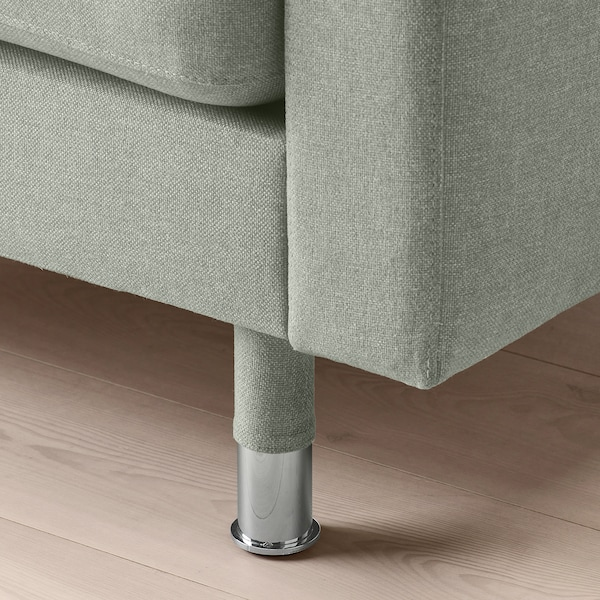 LANDSKRONA Chaise longue-a, modulu gehigarria, Gunnared berde argia/metal-kolorea