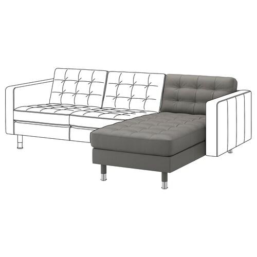 LANDSKRONA chaise longue-a, modulu gehigarria Grann/Bomstad berde grisa/metal-kolorea