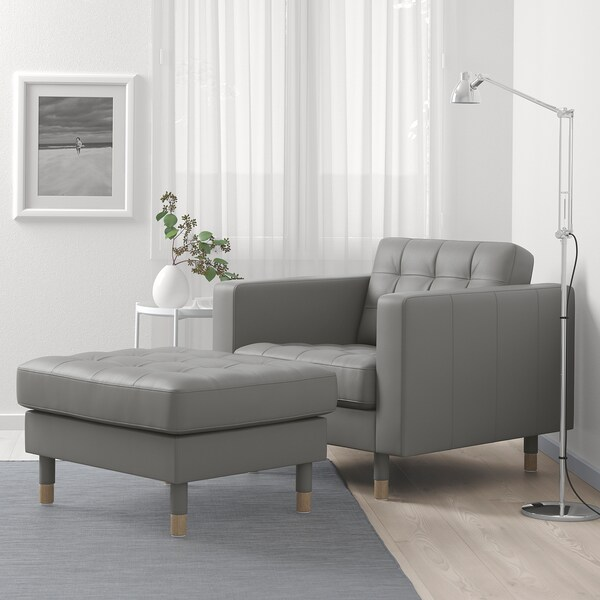 LANDSKRONA oin-euskarria Grann/Bomstad berde grisa/zura
