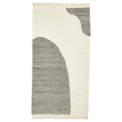 LOKALT Alfonbra, naturala beltza/eskuz, 80x150 cm