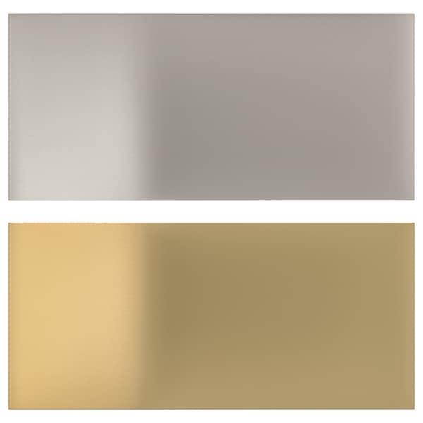 LYSEKIL Hormako panela, bi aldeak kolore brontzea/altzairu herdoilgaitzaren kolorea, 119.6x55 cm