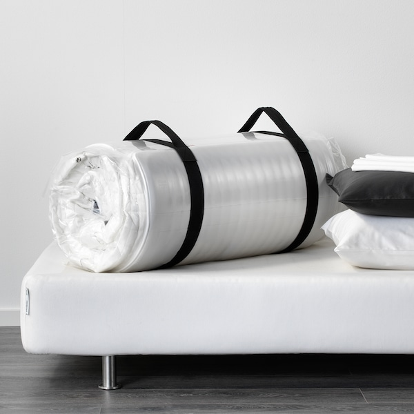 MATRAND Biskoelastikozko lastaira, sendoa/zuria, 90x200 cm