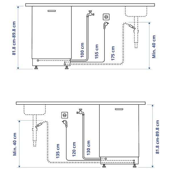 MEDELSTOR Ontzi-garbigailu integratua, 45 cm