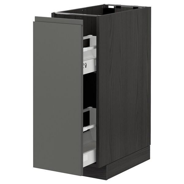 METOD Armairu baxu ateragarria, beltza/Voxtorp gris iluna, 30x60 cm