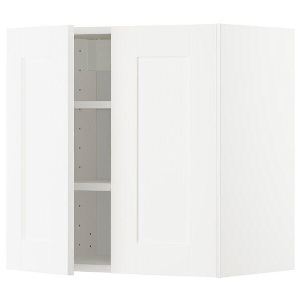 METOD Hormako armairua apalekin/2 ate, zuria/Sävedal zuria, 60x60 cm