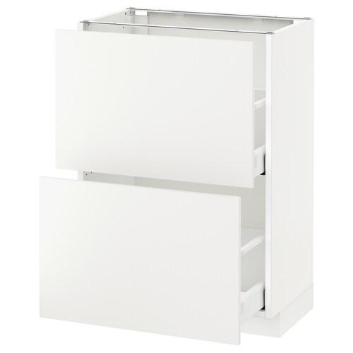 IKEA METOD / MAXIMERA 2 tiraderadun sukalderako armairu
