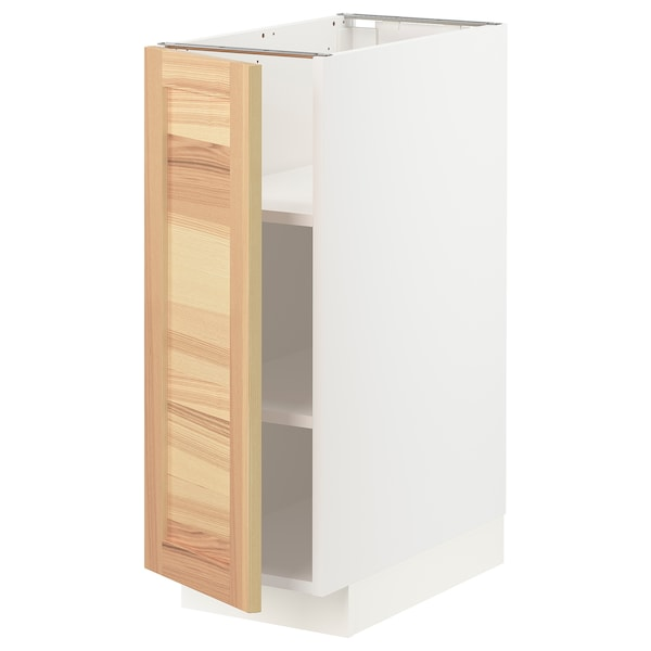 METOD Oinarri-armairua apalekin, zuria/Torhamn lizarra, 30x60 cm