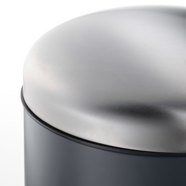 MJÖSA Zaborrontzi pedalduna, gris iluna, 30 l