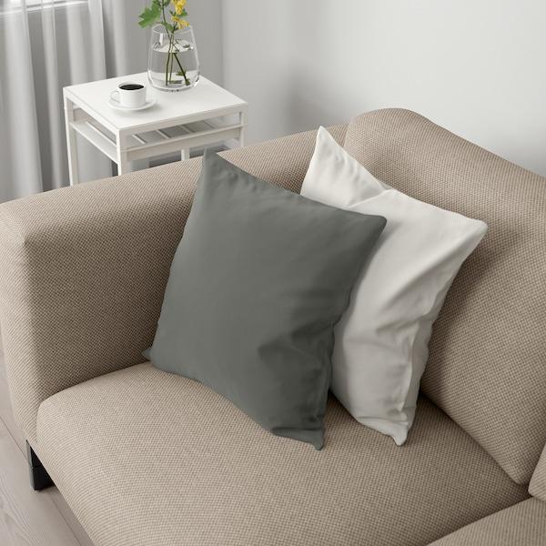 NOCKEBY 2 eserlekuko sofa, Lejde beix iluna/zura