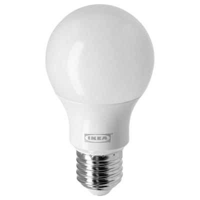 RYET LED E27 bonbilla 470 lumen, globo itxura opalo zuria