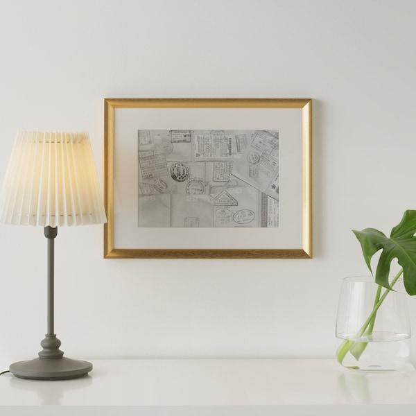 SILVERHÖJDEN Markoa, urreztatzea, 30x40 cm