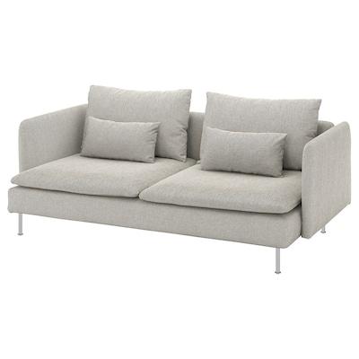 SÖDERHAMN 3 eserlekuko sofa, Viarp beixa/marroia