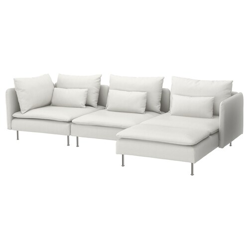 SÖDERHAMN 4 eserlekuko sofa +chaiselongue-ak/Finnsta zuria 83 cm 69 cm 151 cm 122 cm 14 cm