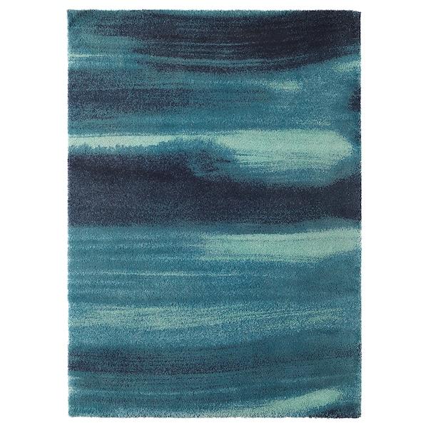 SÖNDERÖD Alfonbra, ile luzea, urdina, 170x240 cm