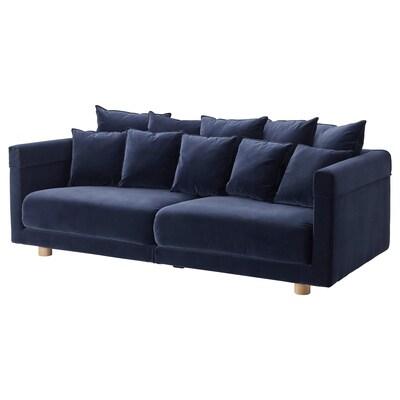 STOCKHOLM 2017 3 eserlekuko sofa, Sandbacka urdin iluna
