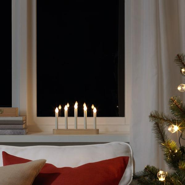 STRÅLA LED argi-armiarma 5 beso, pilekin/pinua, 15 cm