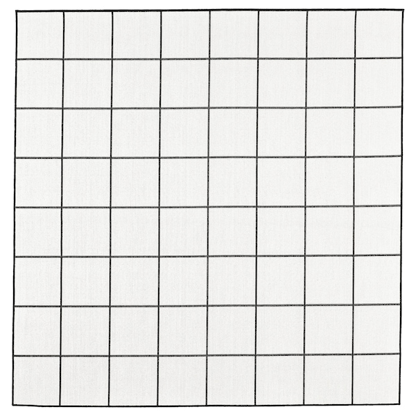 SVALLERUP Barr/kanp alfonbra, beltza/zuria, 200x200 cm