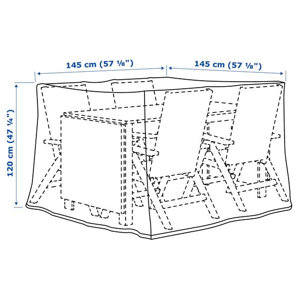 TOSTERÖ Altzarietarako zorroa, jangelako sorta/beltza, 145x145 cm