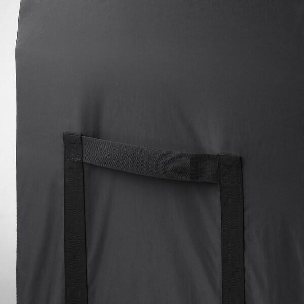TOSTERÖ Kanporako kaxa, beltza, 129x44x79 cm