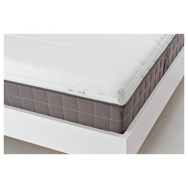 TUSSÖY Lastaira txikia/atsedenerako topper, zuria, 160x200 cm