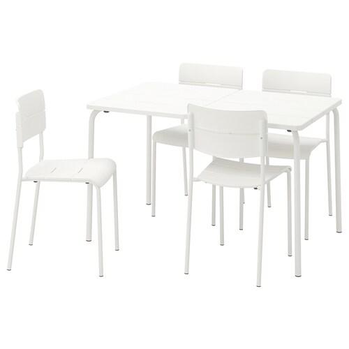 IKEA VÄDDÖ Kanporako mahaia + 4 aulki